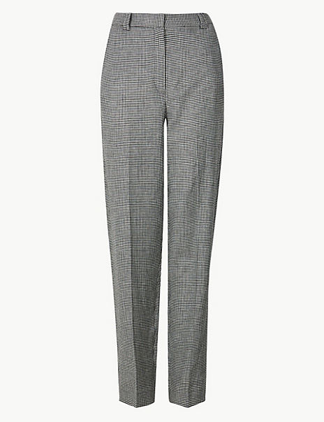 Freya Relaxed Checked Straight Leg Trousers