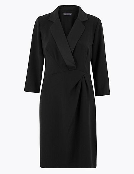 Tuxedo Shift Mini Dress