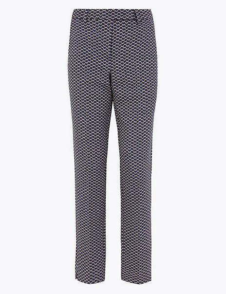 Mia Jacquard Slim Ankle Grazer Trousers