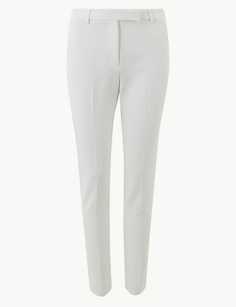 Mia Slim Jacquard Ankle Grazer Trousers