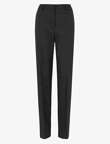 Freya Wool Blend Relaxed Trousers