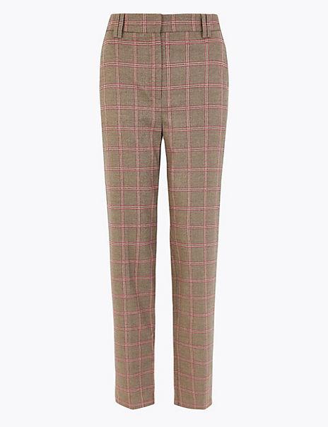 Freya Windowpane Checked Trousers