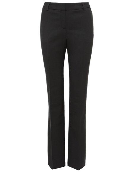 Italian Fine Wool Straight Leg Trousers