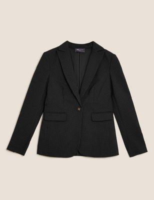 Pin Dot Single Breasted Blazer