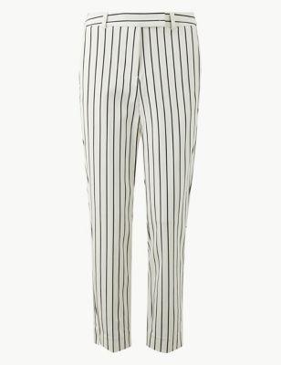 a73e28091e4 Mia Slim Striped Ankle Grazer Trousers £35.00