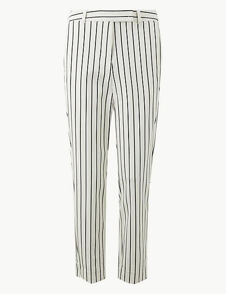 Mia Slim Striped Ankle Grazer Trousers