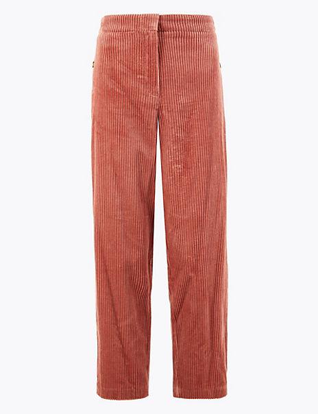 Evie Cord Straight Leg 7/8th Trousers