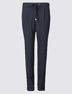 Side Stripe Tapered Leg Trousers