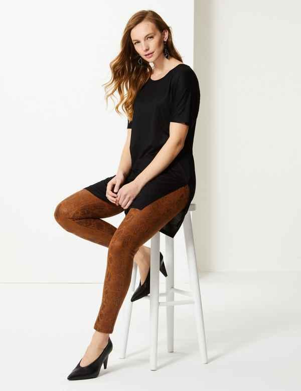 d9cc8c279499e5 Animal Print Skinny Leg Trousers