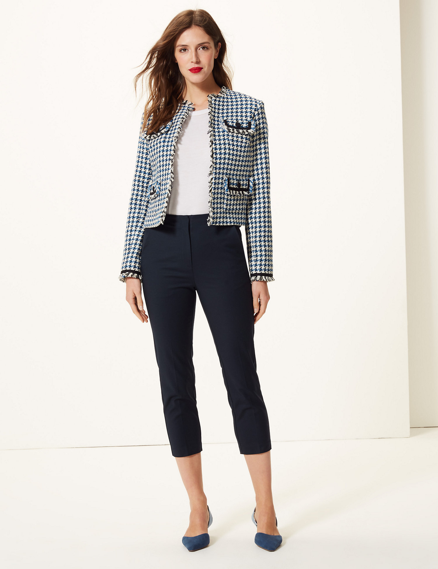 M&S Mia Slim Cropped Trousers