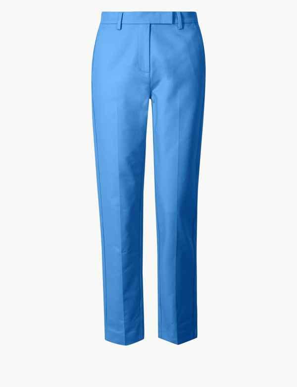 Cotton Slim 7 8th Trousers 1f21536ff