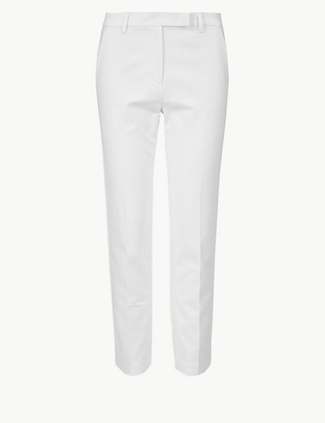 Mia Slim Cotton Rich 7/8th Trousers
