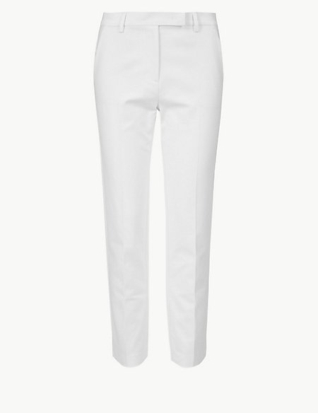 Cotton Slim 7/8th Trousers