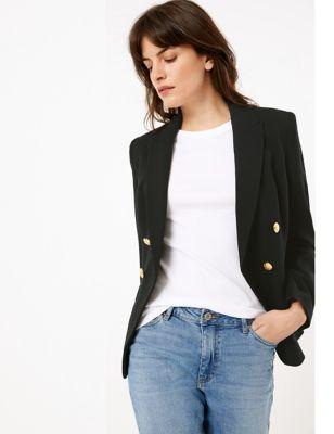 Womens M&S Collection Blazer croisé - Black