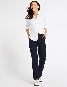 Straight Leg Slouch Trousers