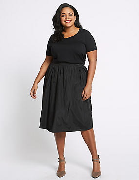 CURVE Full Midi Skirt