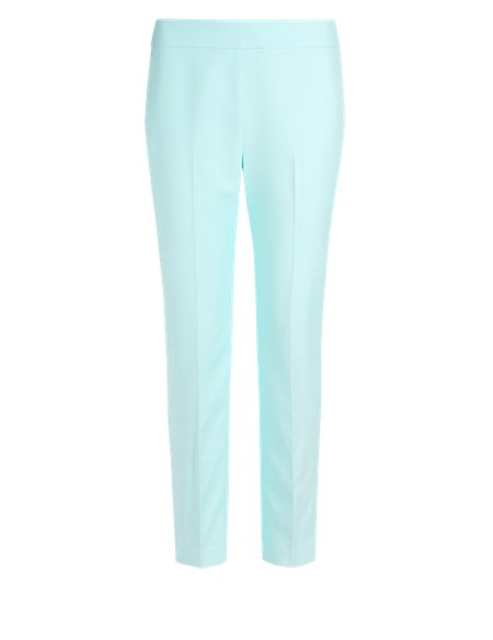 Jacquard Tapered Leg Cropped Trousers