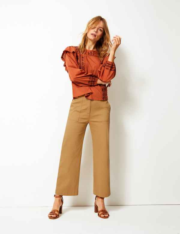 dbae6719d94 Wide Leg Utility Style Trousers