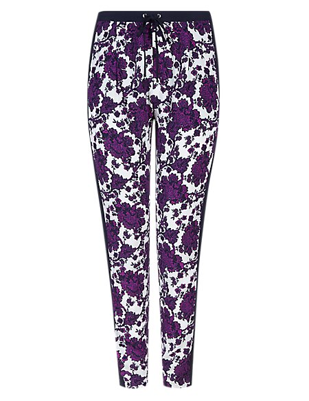 PLUS Floral Tapered Leg Trousers