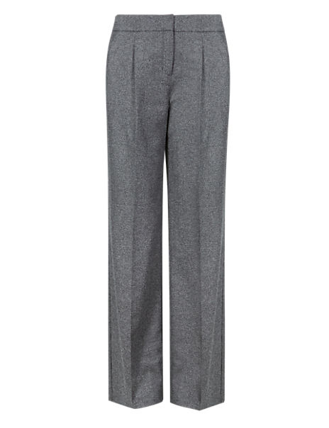 Luxury Wide Leg Trousers with New Wool