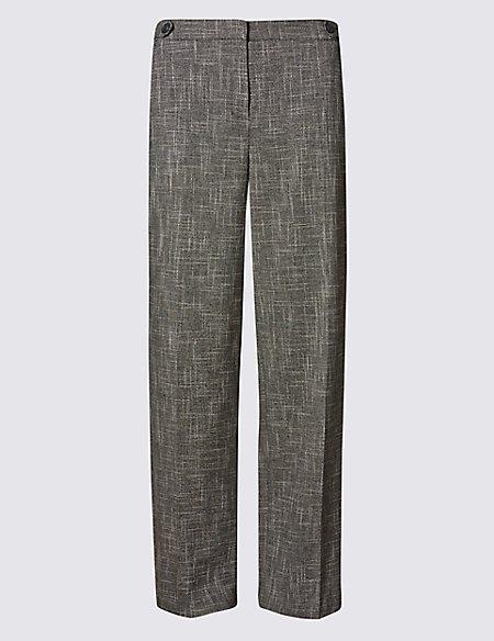Tweed Wide Leg Trousers