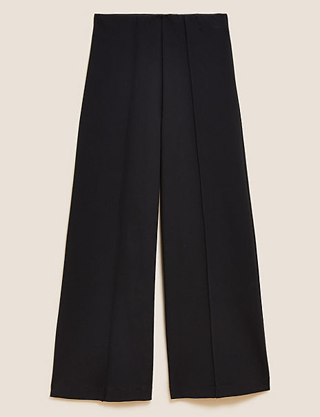 Ponte Wide 7/8th Leg Trousers