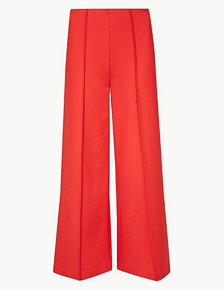 Ponte Wide Leg 7/8th Trousers