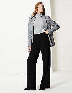 Krepové kalhoty s nbsp širokými nohavicemi ... 92eb38a22e