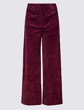 Cotton Rich Textured Trousers