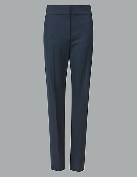 Wool Blend Trousers with Silk
