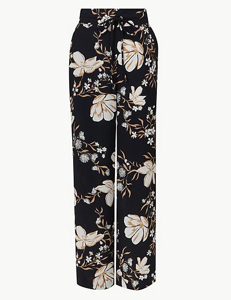 d90ac34e41 Floral Print Wide Leg Trousers   M&S Collection   M&S
