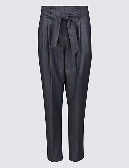 Tapered Leg Trousers