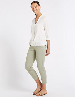 Cotton Rich 7/8th Crop Trousers