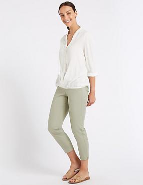 Cotton Rich 7/8th Crop Trousers