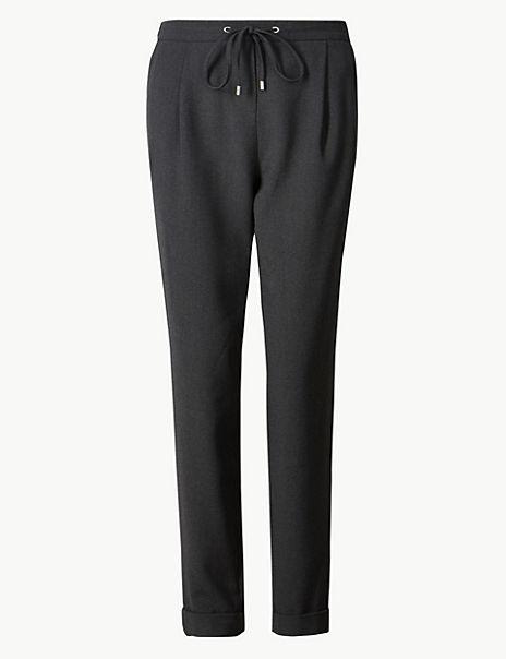 Side Stripe Tapered Leg Cigarette Trousers