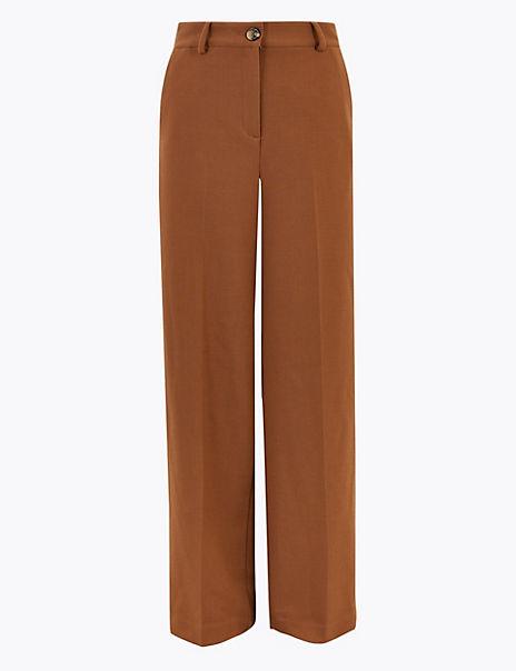 High Waist Wide Leg Trousers