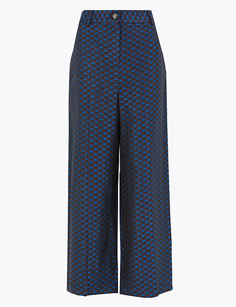 Jacquard Wide Leg Trousers