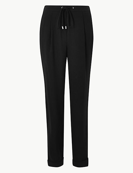 Side Stripe Tapered Leg Trousers