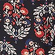 Floral Print Wide Leg High Waist Trousers, NAVY MIX, swatch