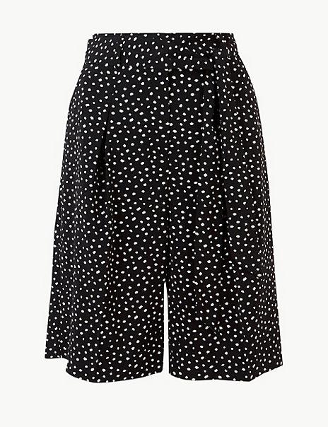 Polka Dot High Waist Tailored Shorts
