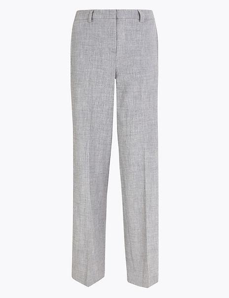 Marl Wide Leg Trousers