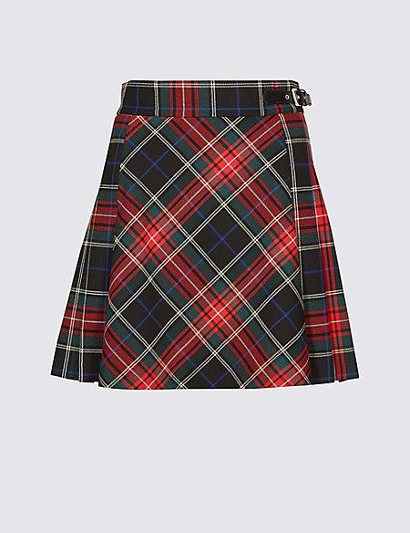 Checked Kilt Mini Skirt