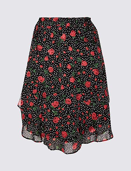 Spotted Mini Skirt