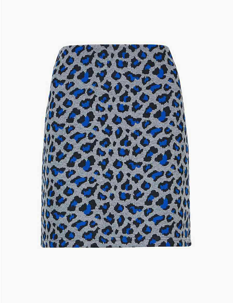 157c9c231ab Animal Print Jersey A-Line Mini Skirt