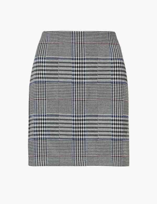 9569b13b067ba Checked A-Line Mini Skirt. M S Collection