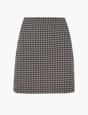1d69216aae Dogtooth Checked Jersey A-Line Skirt £15.00