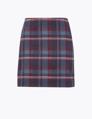 c12b8c001 Checked Jersey Pencil Mini Skirt £15.00