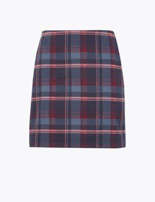 c16e2b01d Checked Jersey Pencil Mini Skirt £15.00