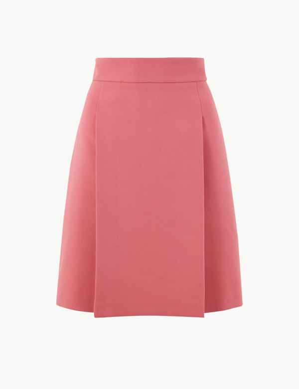 e36621fae76c72 Pleat Front Mini Skirt. M&S Collection
