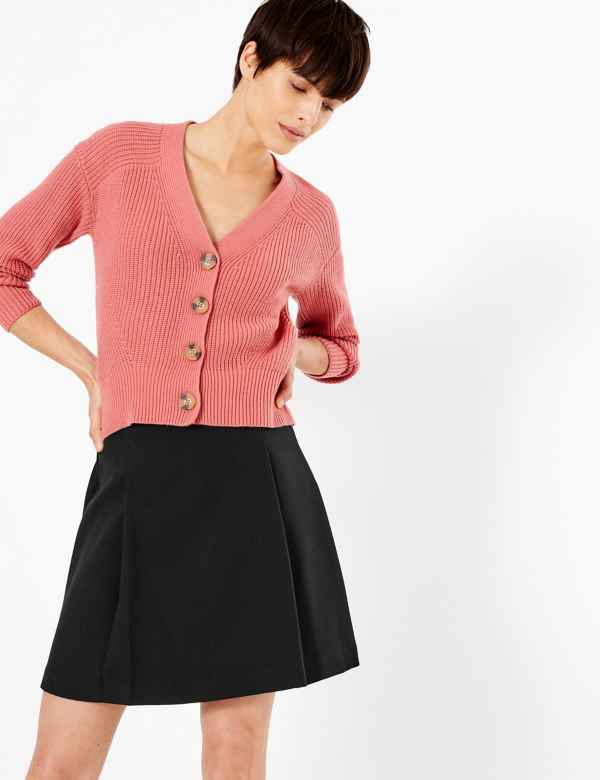 6eda0b527 Pleat Front Mini Skirt. New. M&S Collection